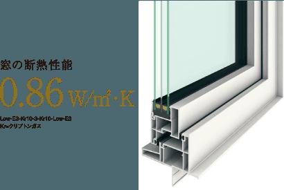 ペアガラス樹脂サッシの2倍以上の断熱性能トリプルガラス樹脂サッシ