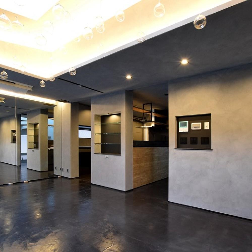 モールテックスと間接照明が際立つお店のような住まい|新潟市中央区|I様邸