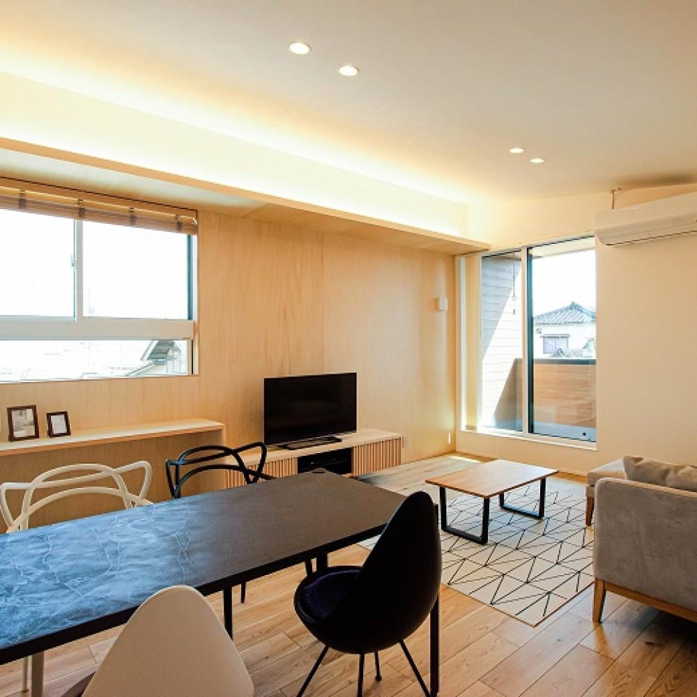 素材でつながる2世帯住宅|新潟市南区|M様邸