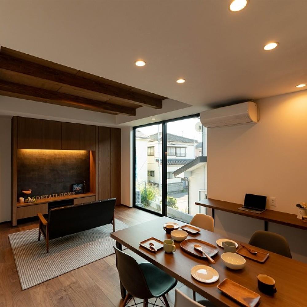 変形敷地に建つこだわりのコンパクトハウス 新潟市東区 U様邸
