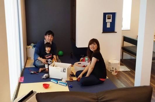 家族の気配を感じながら子どもの成長を見守る家づくり