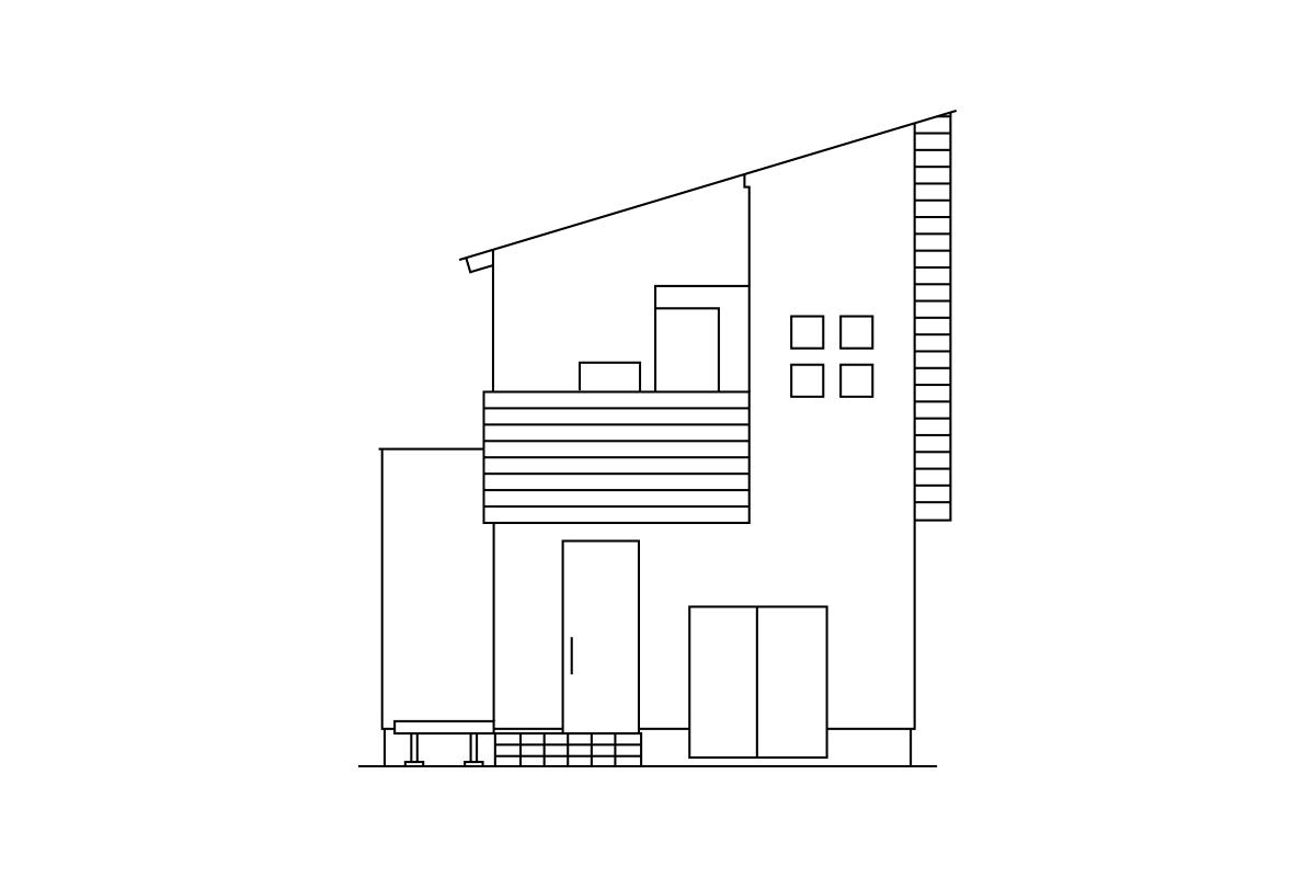 加茂市 えんぴつ状の土地と四つ窓の家 完成見学会