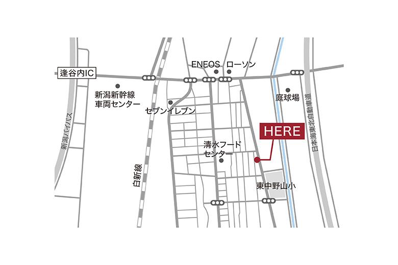 新潟市東区東中野山モデルハウス|家族が集まるL字型LDKのお家
